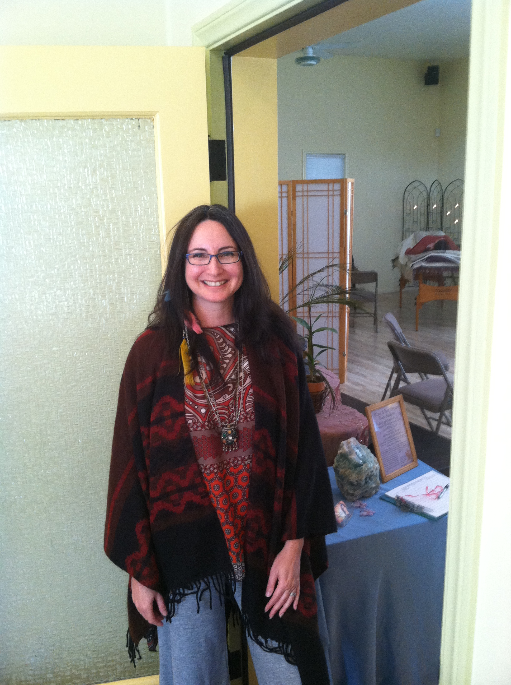 Getting ready for healing at the Ojai Healing Fair 2013